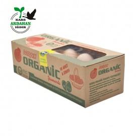 Organik Yumurta - 0 Numara Organik Sertifikalı 10 Adet Pakette